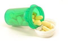 Vitaminen in fles Royalty-vrije Stock Afbeeldingen