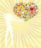 Vitaminen voor de gezonde manier van het leven Vector Illustratie