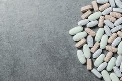 Vitaminepillen royalty-vrije stock foto's