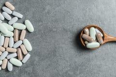 Vitaminepillen stock foto's