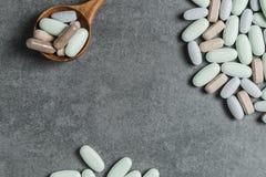 Vitaminepillen royalty-vrije stock foto