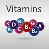 vitaminer vektor illustrationer