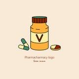 Vitaminer design, vektorillustration Arkivfoton