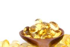 Vitaminer för behandling i den medicinska uppdelningen Arkivbilder