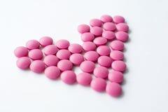 Vitamines de coeur, santé photographie stock libre de droits