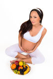 Vitamines et fruit pour les femmes enceintes Photographie stock