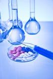 Vitamines et laboratoire Photo libre de droits