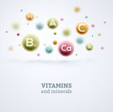 Vitamines et minerais Image stock