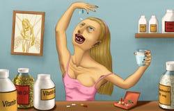 Vitamines folles Photos stock