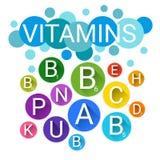 Vitamines nutritives essentielles de minerais d'éléments chimiques illustration libre de droits