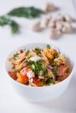 Vitaminesalade met tomaten Royalty-vrije Stock Afbeelding