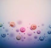 Vitaminhintergrund vektor abbildung