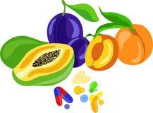 Vitaminpills Arkivfoto