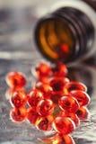 Vitaminpreventivpillerar Arkivbild