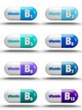 Vitaminpreventivpillerar Royaltyfri Fotografi
