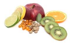 Vitaminpreventivpillerar arkivbilder