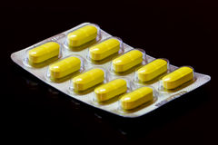 Vitaminpreventivpillerar Fotografering för Bildbyråer