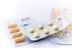Vitamins. View of the pills, medicine, vitamins Royalty Free Stock Images