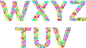 Vitamins Alphabet Set Royalty Free Stock Photography