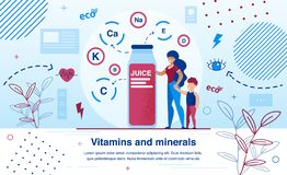 Free Vitamins And Minerals For Kids Flat Vector Banner Royalty Free Stock Photo - 166157025