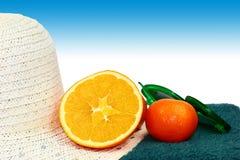 Vitamins at beach Stock Photo