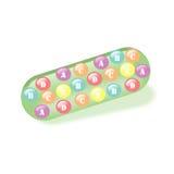 Vitamins in capsule Stock Images