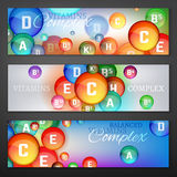 Vitamins Complex Banners Stock Images