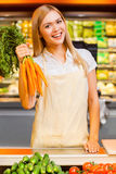 Vitamins for the customers. Stock Photo