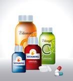 Vitamins  design Royalty Free Stock Images
