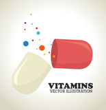 Vitamins design Stock Photos