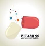 Vitamins design Stock Photos