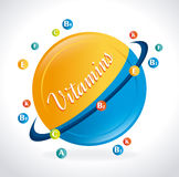 Vitamins design Royalty Free Stock Photos