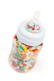 Vitamins in feeding bottle Royalty Free Stock Photos