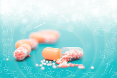 Vitamins and food supplements Stock Photo