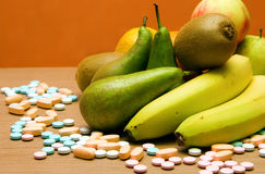 Vitamins or Fruits? Royalty Free Stock Photo