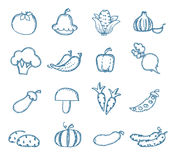 Vitamins icons. Authors illustration in vector Stock Image