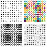 100 vitamins icons set vector variant. 100 vitamins icons set vector in 4 variant for any web design isolated on white Royalty Free Stock Images