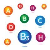 Vitamins illustration  Stock Photo