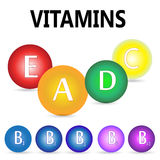 Vitamins illustration Royalty Free Stock Photos
