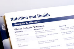 Vitamins and Minerals Stock Images