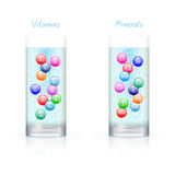 Vitamins and minerals Royalty Free Stock Images