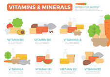 Vitamins and Minerals Infographic Element Royalty Free Stock Image