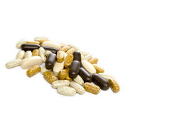 Vitamins in a pile Stock Photos