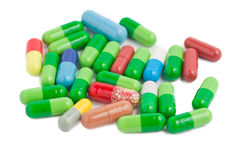 Vitamins, pills and tablets Royalty Free Stock Photos