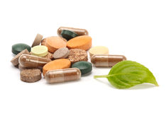 Vitamins, pills and tablets Royalty Free Stock Images