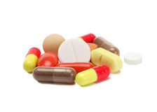 Vitamins, pills and tablets Royalty Free Stock Photo