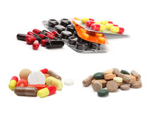 Vitamins, pills and tablets Royalty Free Stock Photography