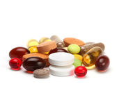 Vitamins, pills and tablets Royalty Free Stock Image