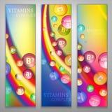 Vitamins Rainbow Banners Stock Photography
