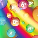 Vitamins Rainbow vector Stock Photography